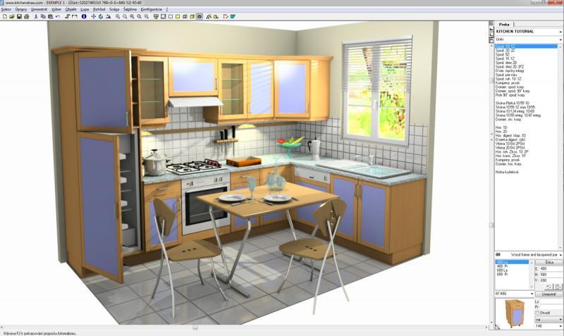 Кухни KitchenDraw 6.5 Проект и визуализация интерьера Софтверное обеспечени